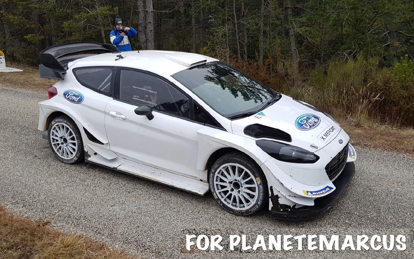Aerodynamic fine tuning in January'18 WRC tests