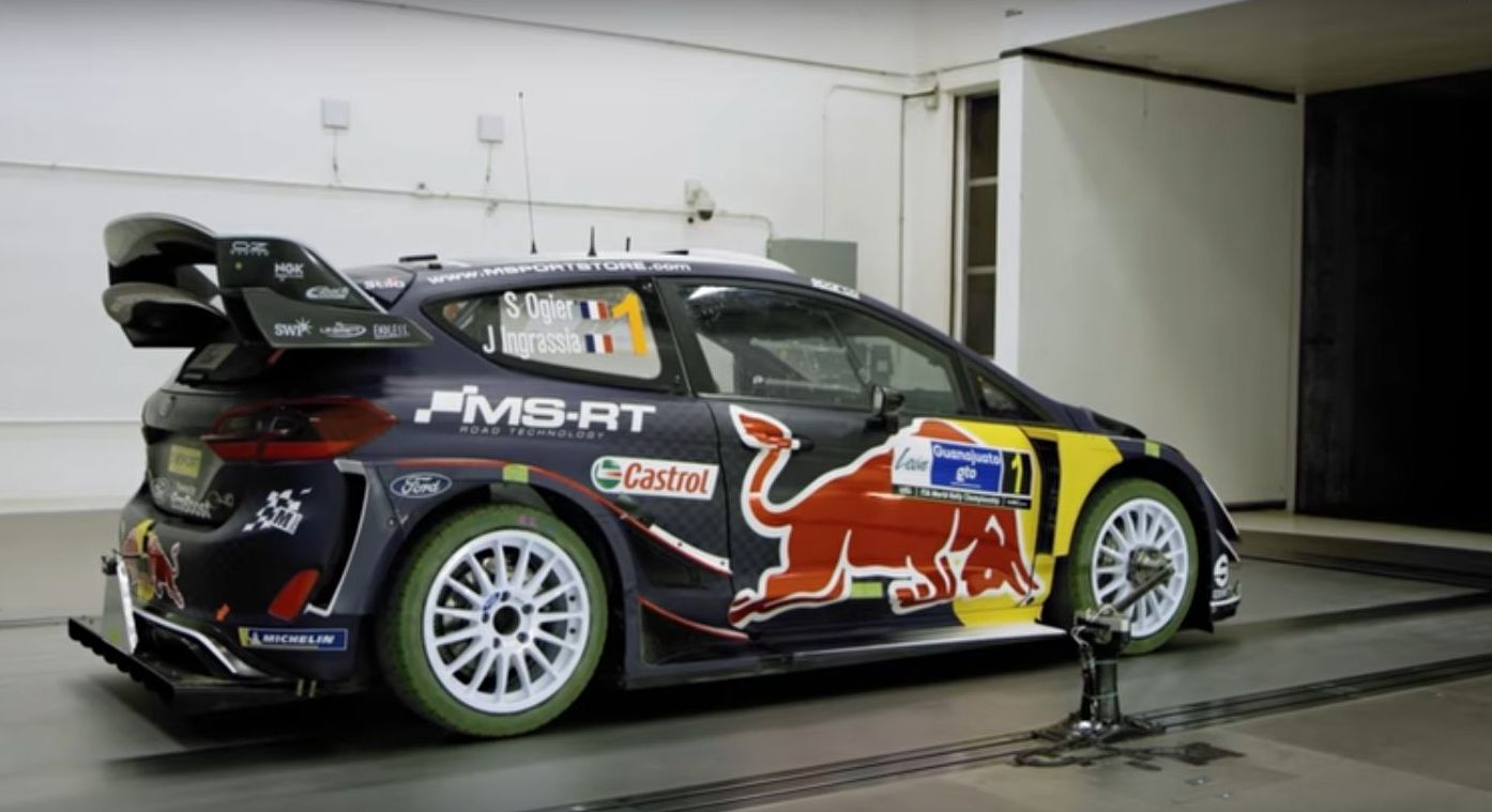 Deconstruction of the Ford Fiesta WRC car aero test in the wind tunnel