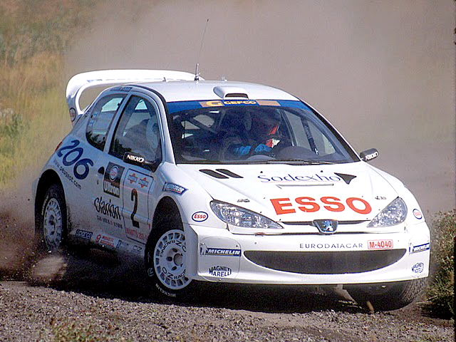 Marcus Grönholm led Peugeot back to success with the 206 WRC