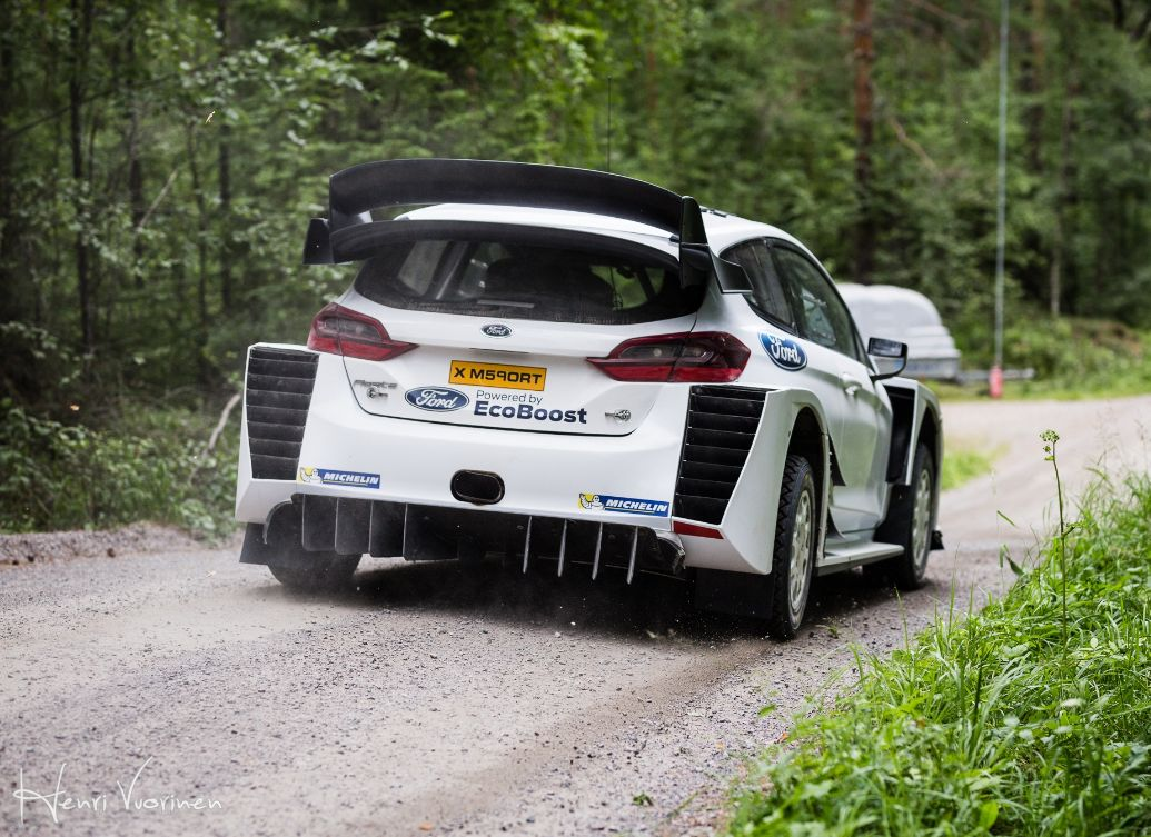 New rear aero design for the Ford Fiesta WRC 2018 for Rally Finland