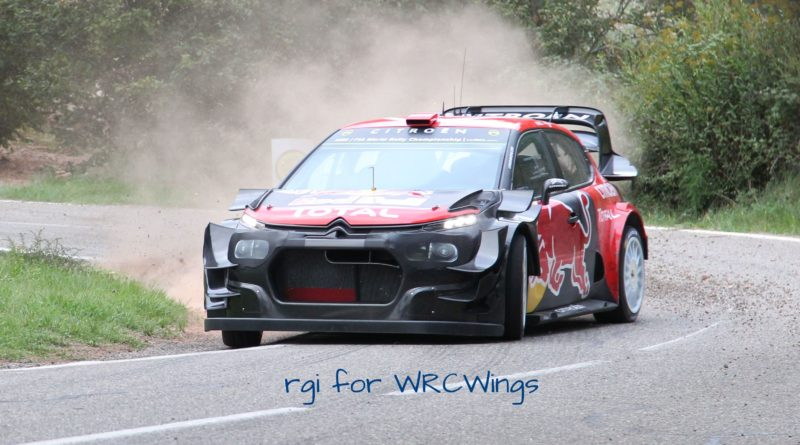 Review of the Citroën C3 WRC aero test development in Catalunya pre-event tests