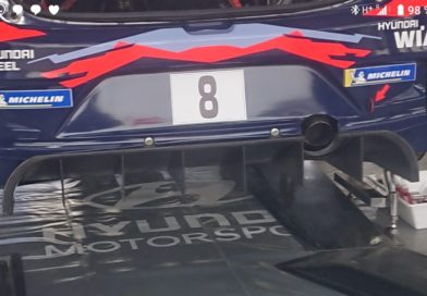 Evolved rear diffuser for the Hyundai i20 Coupé WRC in Monte Carlo
