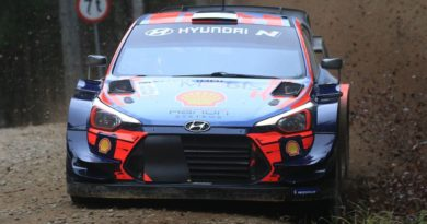 New evolution of the Hyundai's front aero package tested at Kehala Ralli