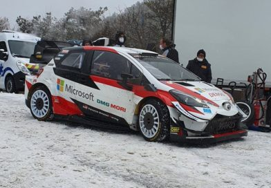New front aero modifications for the Toyota Yaris WRC 2021 at Pirelli tests