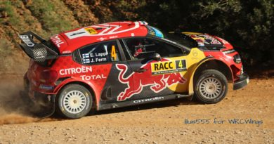 Tyres and aerodynamics in a WRC car